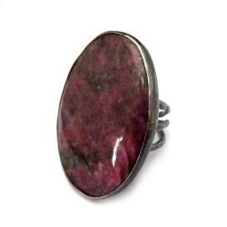 rubin,okaz,skała,srebrny,szarości,rubin,malinowy, - Pierścionki - Biżuteria