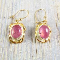 Kolczyki srebrne z rubinami - Kolczyki - Biżuteria