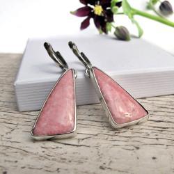 Długie kolczyki z różowym tulitem - Kolczyki - Biżuteria