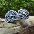 Kolczyki dmuchawce,srebrne,sztyfty,minimalistyczne