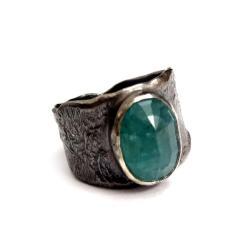 grandidieryt,srebrny,blask,surowy,sygnrt,blue - Pierścionki - Biżuteria