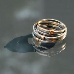 oryginalny,wyjątkowy,ze złotem - Pierścionki - Biżuteria