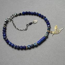 kamienie,minerały,ptaszek,elegancka - Bransoletki - Biżuteria