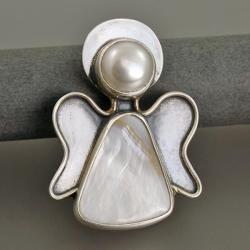 broszka anioł,wisior anioł - Wisiory - Biżuteria