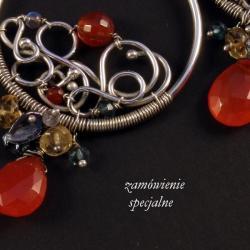 srebrny komplet - Naszyjniki - Biżuteria
