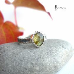 złoty labradoryt,pierścionek dla dziewczyny - Pierścionki - Biżuteria