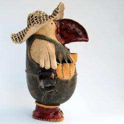 rzeźba,ceramika,unikat,piórnik,rękodzieło - Ceramika i szkło - Wyposażenie wnętrz