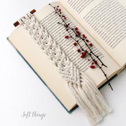 pachnąca zakładka do książki,cynamon,makrama - Zakładki do książek - Akcesoria