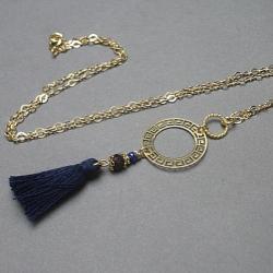 boho,chwost,delikatny - Naszyjniki - Biżuteria