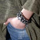 Bransoletki bransoleta damska ze skóry,biżuteria z rzemieni
