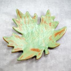 patera,jesień,liść,stół,salon - Ceramika i szkło - Wyposażenie wnętrz