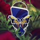 Wisiory wisior z motylem,srebrny wisior z emalią