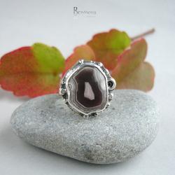 pierścionek z agatem,agat rodzimy - Pierścionki - Biżuteria