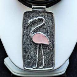 bizuteria,srebro,naszyjniki,różowy kwarc,wisiory - Naszyjniki - Biżuteria