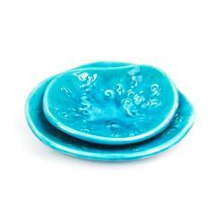ceramika,miski,zestaw,turkus - Ceramika i szkło - Wyposażenie wnętrz