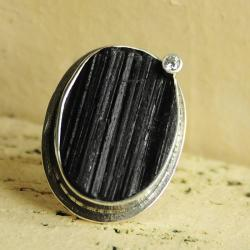 srebro,turmalin,cyrkonia,hand made - Pierścionki - Biżuteria