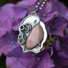 Naszyjniki wisior,naszyjnik,retro,romantyczny,różowy,opal