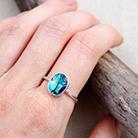 Pierścionki muszla paua,srebrny pierścionek,delikatny
