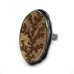 sujri,srebrny,srebro,oksyda,dendryt,roślinny,retro - Pierścionki - Biżuteria
