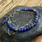 Bransoletki bransoletka srebrna,bransoletka z lapis lazuli