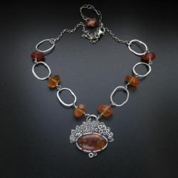 7a6f29fd2f3050 naszyjnik,bursztyn,biżuteria z bursztynem,fiann - Naszyjniki - Biżuteria