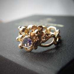 pierścionek zaręczynowy z tanzanitem - Pierścionki - Biżuteria