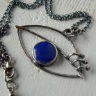 Wisiory z lapisem lazuli,srebro kute,niebieski wisiorek