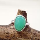 Pierścionki pierścionek,chryzopraz,srebro,zielony,prezent