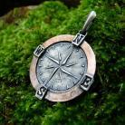 Wisiory kompas,srebro,miedź,talizman