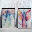 Obrazy anioły,akwarela