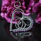 Naszyjniki rubin,wisiorek,serce,naszyjnik,serduszko