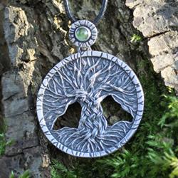 drzewo,drzewo życia,zielony,oliwin,peridot - Wisiory - Biżuteria