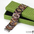 Bransoletki elegancka bransoletka z kolorach ciemnego złota