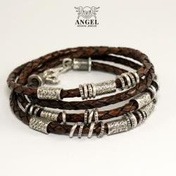 bransoleta skórzana,męska biżuteria - Bransoletki - Biżuteria