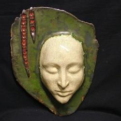 maska,twarz,dekoracja,aranżacja,klimat - Ceramika i szkło - Wyposażenie wnętrz