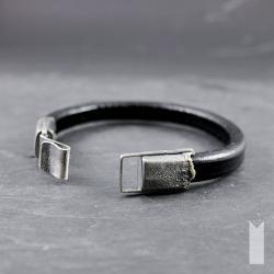 surowa,minimalistyczna,gruba skóra - Dla mężczyzn - Biżuteria