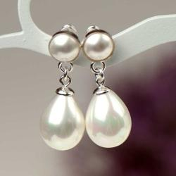 kolczyki z perłami,eleganckie,klasyczne - Kolczyki - Biżuteria
