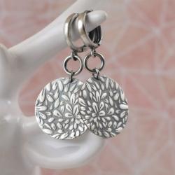 kolczyki,ornament,okrągłe,długie,wzór - Kolczyki - Biżuteria