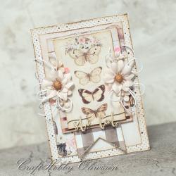 kartka,motyle,urodziny - Kartki okolicznościowe - Akcesoria