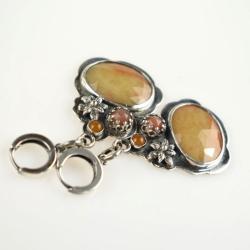 kolczyki,szafir,eleganckie,romantyczne,żółty - Kolczyki - Biżuteria