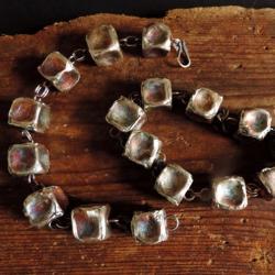 srebro 925,kostki srebrne,bransoleta - Bransoletki - Biżuteria