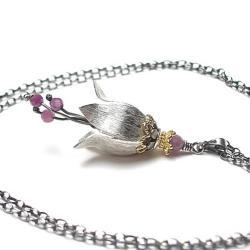 delikatny,romantyczny,kwiat - Naszyjniki - Biżuteria