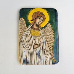 Beata Kmieć,ikona,anioł,stróż,ceramika - Ceramika i szkło - Wyposażenie wnętrz