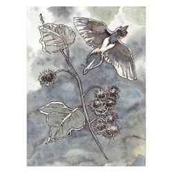 ptak,ptaki,skrzydła,w locie,dekoracja,ilustracja, - Ilustracje, rysunki, fotografia - Wyposażenie wnętrz