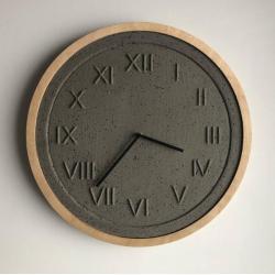 loftowy,betonowy,nowoczesny,ścienny,duży, - Zegary - Wyposażenie wnętrz