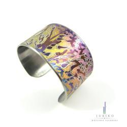 tytan,rękodzieło,kolorowa bangla, - Bransoletki - Biżuteria