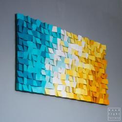 mozaika,plaża,kolor,drewno,rękodzieło - Inne - Wyposażenie wnętrz
