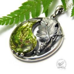 yin yang,mech,żywica,natura,zen - Naszyjniki - Biżuteria