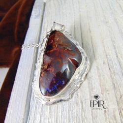 Wisor srebrny z opalem - Wisiory - Biżuteria