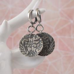 kolczyki,ornament,wzór,koła, - Kolczyki - Biżuteria